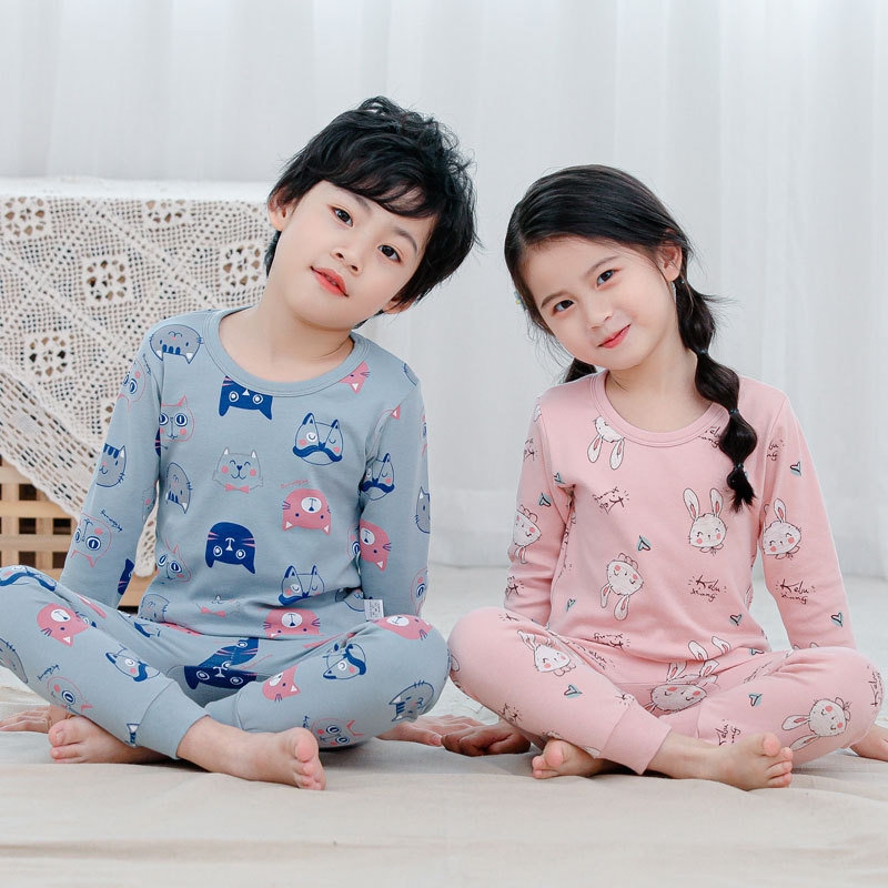 VIDMID New Children Pajamas Set Soft Cotton clothes suits  Cartoon Animal Sleepwear Boy Clothing Suit Pajamas Nightwear 4248 01 1
