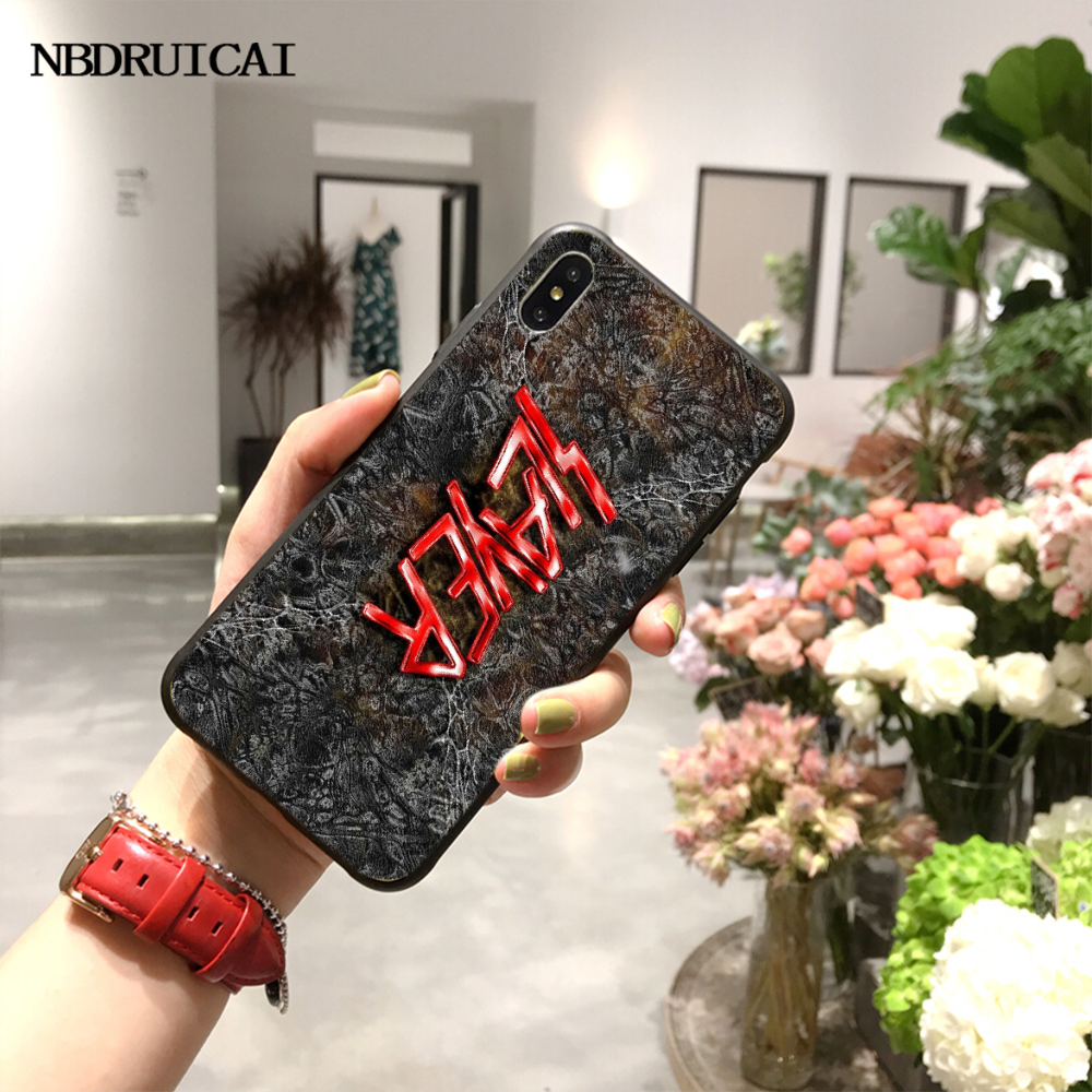 NBDRUICAI רוק סגנון מוסיקה ציידת טלפון Case כיסוי עבור iPhone 11 פרו XS מקסימום 8 7 6 6S בתוספת X 5S SE XR מקרה