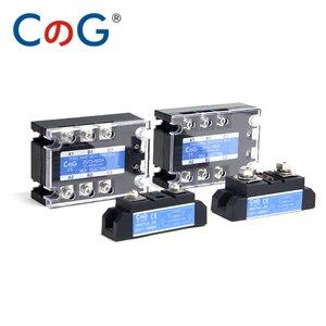 Image 5 - CG 3 Phase 10A 25A 40A DA 60A 80A 100A 150 200A Three Phase SSR 3 32V DC Control 24 480V AC Solid State Relay SSR AC Three DC AC