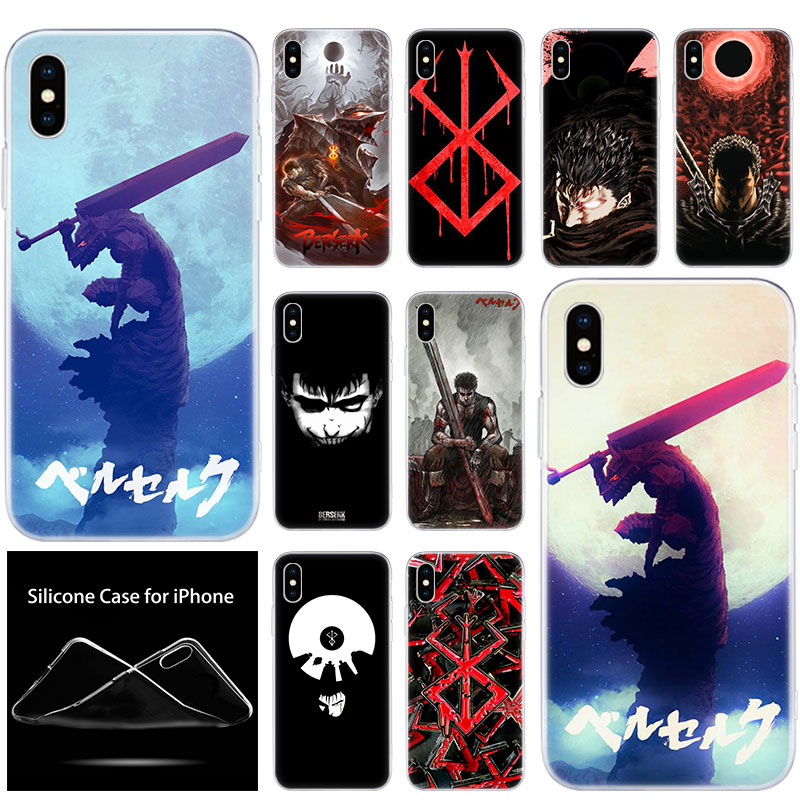 luxury Soft Silicone Phone Case Anime Berserk Guts for Apple ...
