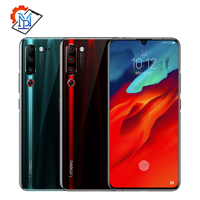 Original Lenovo Z6 Pro Mobile Phone 6.39 Inch 6GB RAM 128GB ROM Snapdragon 855 Octa Core Rear 48MP Quad Cameras Smartphone