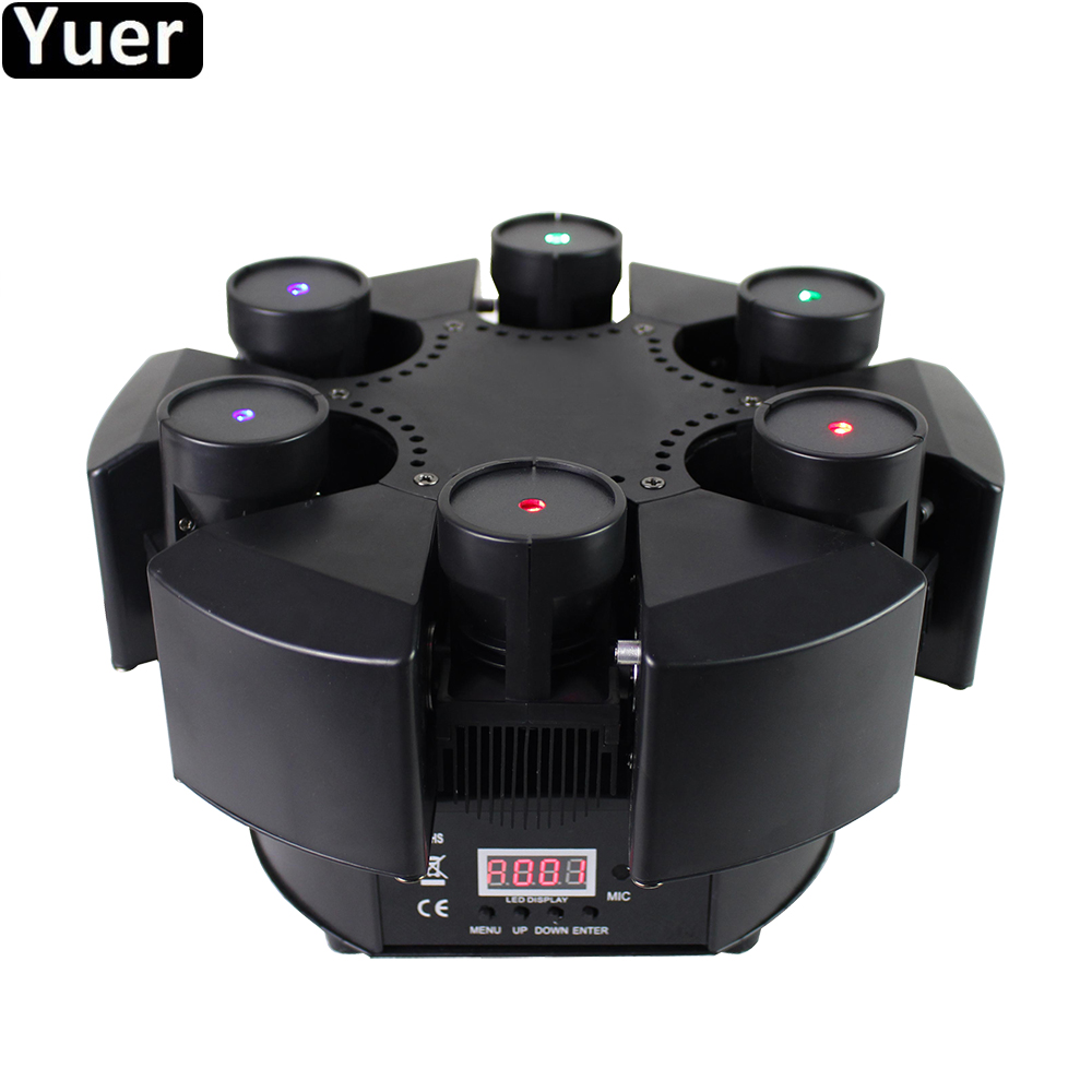 6 Heads Moving Head Beam Laser Light Professional Moving Head Laser Beam Light DMX512 Sound Control DJ Disco Party Stage Light
