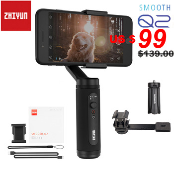 Zhiyun Smooth Q2 / Smooth 4 3-Axis Smartphone Handheld Gimbal Stabilizer for iPhone 11 Pro Max XS X 8P Samsung S10 S9 S8 Huawei feiyu fy spg live 3 axis brushless handheld gimbal stabilizer for gopro5 iphone smartphone