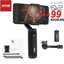 Zhiyun Smooth Q2/gładka 4 3 osi smartfon ręczny stabilizator do iphonea 11 Pro Max XS X 8P Samsung S10 S9 S8 Huawei