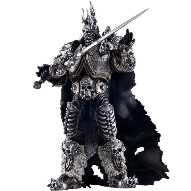 World of warcraft figuras de brinquedo de ação lich king-arthas cavaleiro da morte collectible modelo brinquedos de jogo de boneca para crianças e adultos