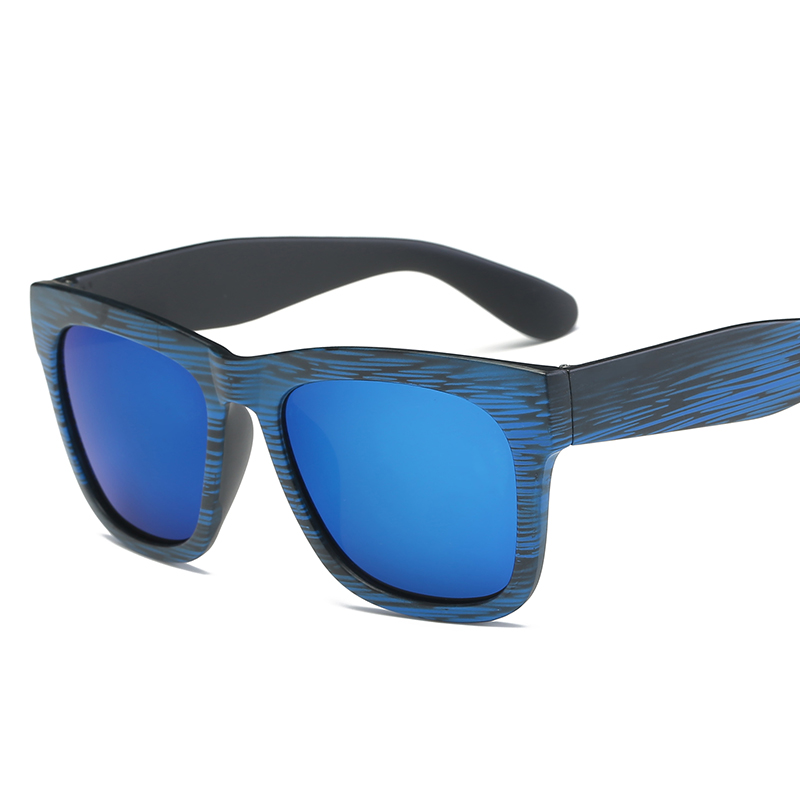Blue Color Square Shape New Brand Design Women And Men Casual Sunglasses Vintage Square Mirror Goggle Retro Style Sun Glasses