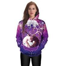 2019  Hoodie Autumn and Winter New Sweatshirt Christmas Elk Digital Print Loose Large Size