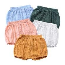 Shorts Kids Bloomers Bread-Pant Linen Ruffles Newborn Baby-Girl Babies Summer Solid Diaper-Covers