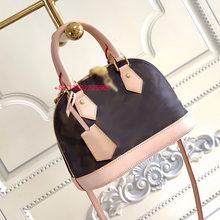 Designer de luxo bolsa feminina alma bb concha saco qualidade superior lidar com bonito saco damier ebene crossbody sacos couro patente