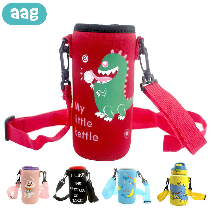 AAG Cartoon Milk Bottle Warmer Insulation Bag Baby Feeding Bottle Thermal Newborn Water Stroller Bottle Holder Bag Thermos Cover