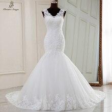 Wedding-Dress Mermaid Real-Photo Robe-De-Mariee Sereia Elegant Sleeveless Video No Vestidos-De-Novia