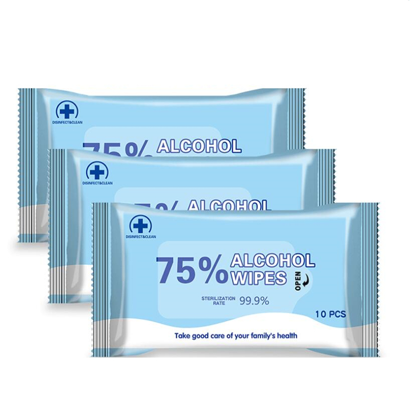 75% Alcohol Disinfection Wet Wipes Hand Sanitizer Cleansing Wipes Antiseptic Cleanser Cleaning Sterilization Antibacterial Wipes