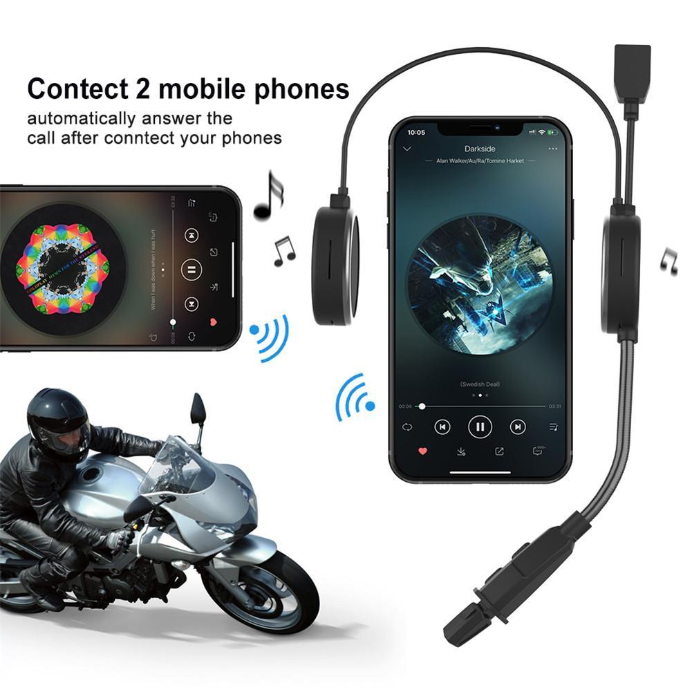 E300 Motorcycle Helmet Bluetooth Wireless Headset Portable Full-duplex 300m Helmet Bluetooth Headphone Noise-canceling
