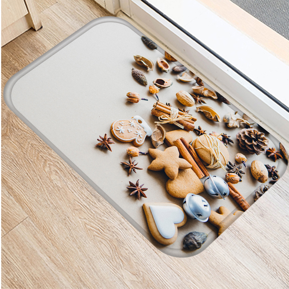 Image 4 - New Delicious Cookies Flannel Thicken Soft Mat Doormat Bathroom 