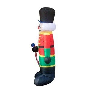 Image 3 - 240cm Nutcracker Air Inflatable Santa Claus Outdoor Christmas Decorations for Home Yard Garden Decor Merry Christmas noel 2019