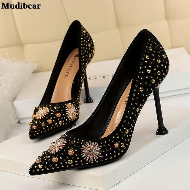 Фото туфли mudibear женские на танкетке свадебные туфли лодочки заостренный цена