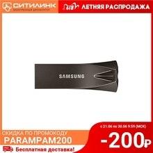Флешка USB SAMSUNG Bar Plus MUF-32BE4/APC 32ГБ, USB3.1, черный