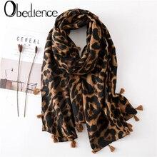 2019 Pop Women Leopard Print Scarf 180*90cm Stole Thin Cotton Warm wraps foulard femme cachecol Spring and autumn