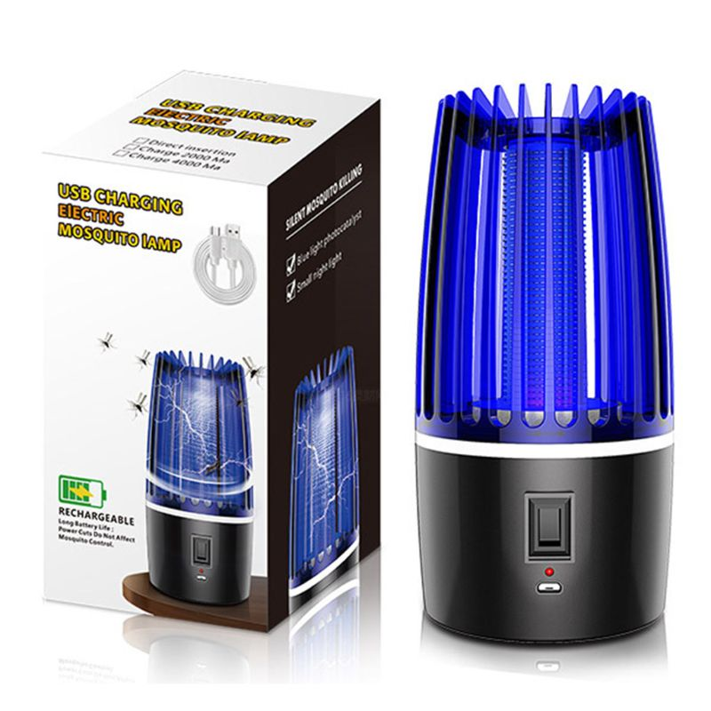 Electric Mosquito Killer Lamp Fly Bug Insect Trap Zapper Home Room Night LED Light EU/UK/US/CN Plug USB Charging