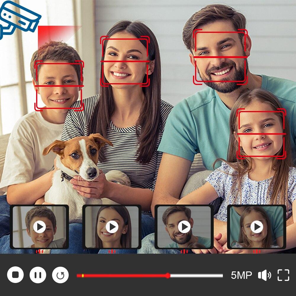 Face Detection H.265 8CH 5MP 4K HD CCTV Set Video Surveillance Kit Security Camera System Audio IP Cam P2P POE NVR Kit 2TB HDD