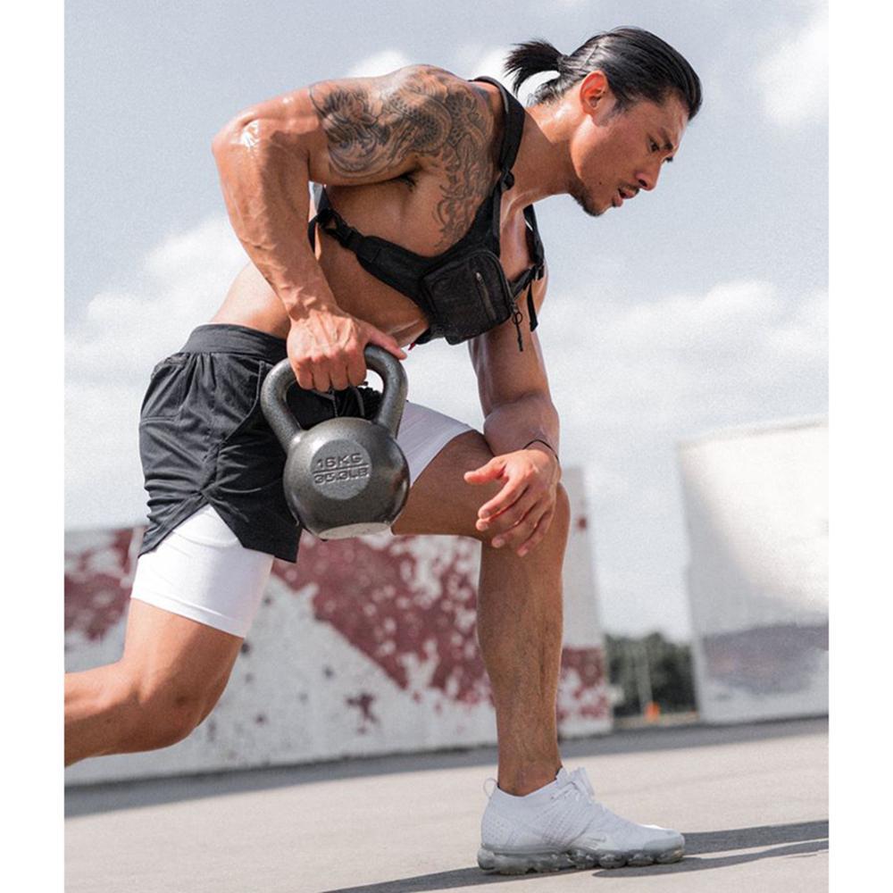 Men Summer Running Shorts 2 in 1 Sports Cycling Fitness Training Shorts Quick Dry Mens Gym Shorts Men Sport Half Pants 2020 New