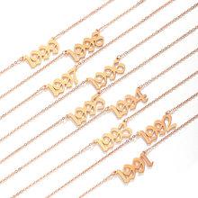 1985-2020 data naszyjniki dla kobiet biżuteria ślubna 2001 2002 2003 2004 2005 2006 2007 2008 rok urodzenia naszyjniki Dropship