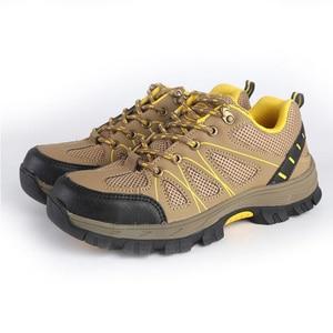 Image 5 - Zapatos de seguridad de punta de acero para mujer, botas de trabajo de seguridad, calzado de construcción, color rosa