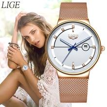 New LIGE Womens Watches Top Brand luxury