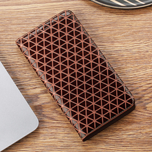 Grid Texture Genuine Leather Case For Vivo V9 V11 V11i V15 Y53 Y55 Y66 Y67 Y71 Y81 Y83 Y85 Y91 Y93 Y95 Y97 Pro Flip Phone Cover for vivo v11 v11 pro v11i z3i y95 y91 y93 armor case hybrid silicone back y97 y91i v15 covers case for vivo cover fundas