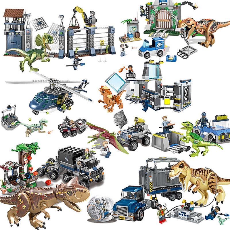 Jurassic World 2 Blue Owen Indoraptor Rex T. Rex Fallen Kingdom Sets Compatible with Dinosaurs Toys Building Block