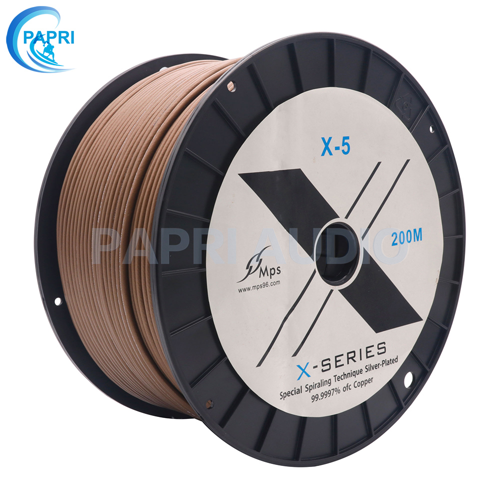 PAPRI HIFI Signal Line MPS X-5 DIY Cable 99.99997% <font><b>5N</b></font> <font><b>OFC</b></font> Silver Plated RCA Speaker Audio Amplifier 1 meter image