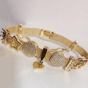 Image 5 - S925 silber farbe armband set DIY Armband mit charme s925 Fit luxus original charme Frauen Armband Schmuck geschenke für frauen