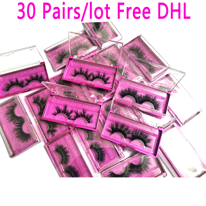 Wholesale 30 Pairs/lot 5D Mink Lashes 25mm Handmade Dramatic Lashes 10 Styles 3D Mink Lashes