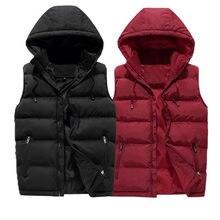 Varsanol-gilet d'hiver à capuche pour hommes, veste chaude, avec capuche, sans manches, surdimensionné 6XL, décontracté