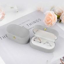 Multi-Color Lint Storage Box Fashion Jewelry Organizador Ring\Earrings Wedding Accessories Boite Cadeaux