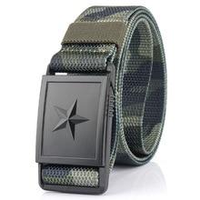 New pentagram magnetism buckle Military tactical belt Outdoor Durable Comfortable Nylon Adjustable Male Jeans Belt High Quality
