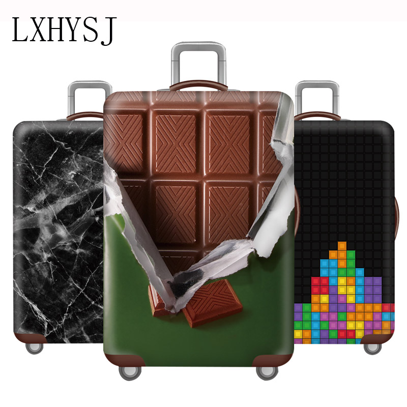 Thicken Luggage Cover Elastic Fabric Luggage Protective Covers Travel Accessories Suitable For 18-32 Inch Trolley Case Cover
