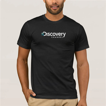 New Fashion T-shirt Trendy Cool Top Men's New Discovery Channel Logo Men's Black T-Shirt Cotton Free Shipping T Shirt love jesus cuss little funny shirt cool southern country gift t shirt free shipping tops fashion classic unique gift