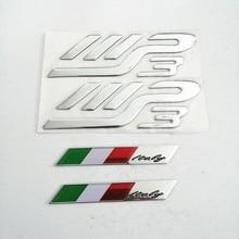 Emblemas da motocicleta 3d logotipos do motor prata adesivos para piaggio mp3 250 300 400 500 decalques ie