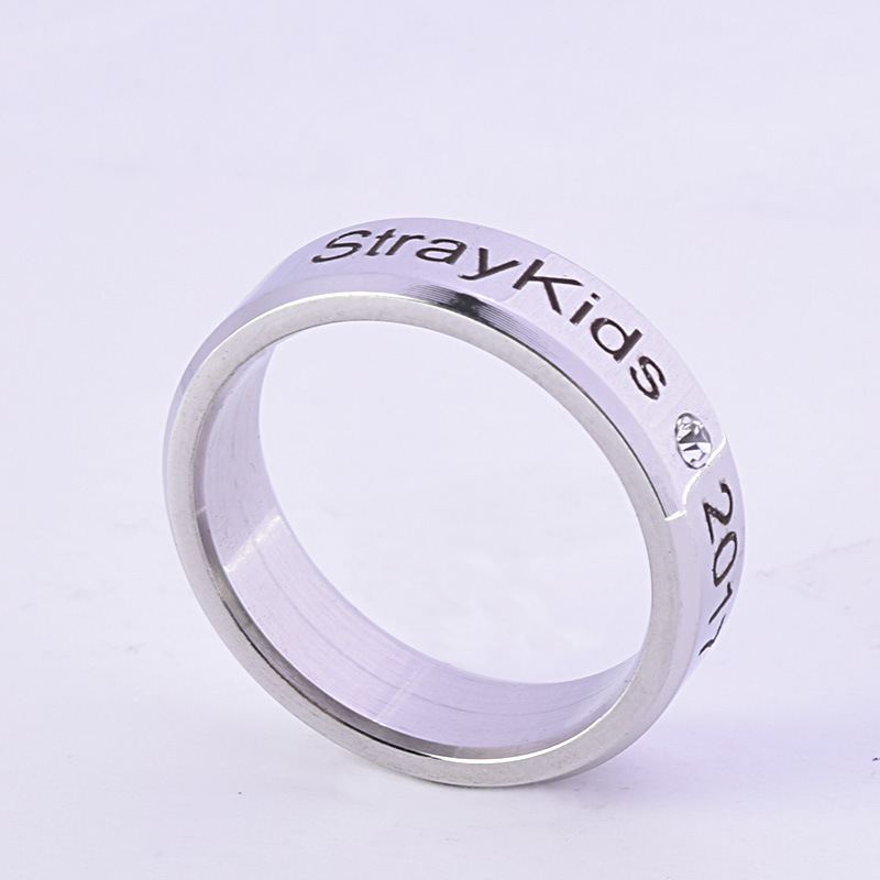 Kpop Stray Kids Alloy Ring Simple Fashion Style For Lover Fans Gift Collection Wanna One Bigbang Finger Ring Kpop Stray Kids