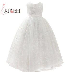 Image 1 - Petites filles נסיכה ורוד ילדה פרח שמלות כדור שמלת תחרה בנות תחרות שמלות ראשית הקודש שמלות