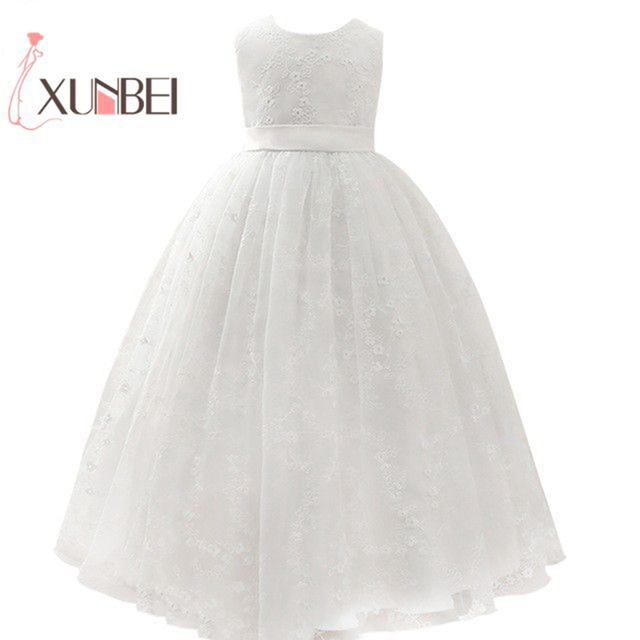 Petites filles נסיכה ורוד ילדה פרח שמלות כדור שמלת תחרה בנות תחרות שמלות ראשית הקודש שמלות