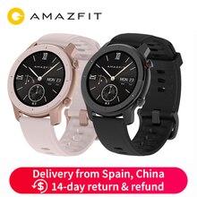 Глобальная версия Amazfit GTR 42 мм Смарт-часы 5ATM Smartwatch 12 дней батарея gps управление музыкой для Xiaomi Android IOS