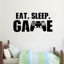 Gamer wall decal Eat Sleep Game wall decal Controller video game wall decals Customized For Kids Bedroom Vinyl Wall Art gamer wall decal eat sleep game controller video game wall sticker for bedroom vinyl decals mural wall decor wallpaper pw206