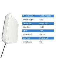 אנטנה עבור UHF RFID 915M אנטנה לורה 915MHz אנטנות חיצוניות לוח Directional Antena עבור לאנג טווח DTU מודול משחזר TX900-PB-2323 (2)