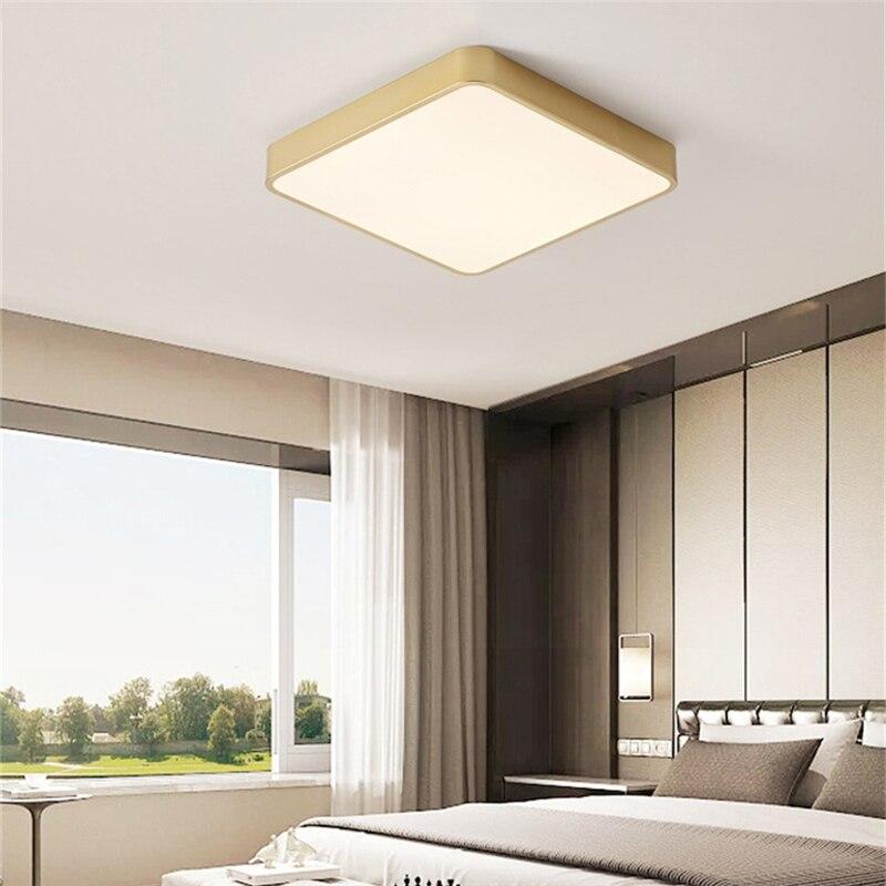 de teto criativo quadrado superficie montado lampada 05