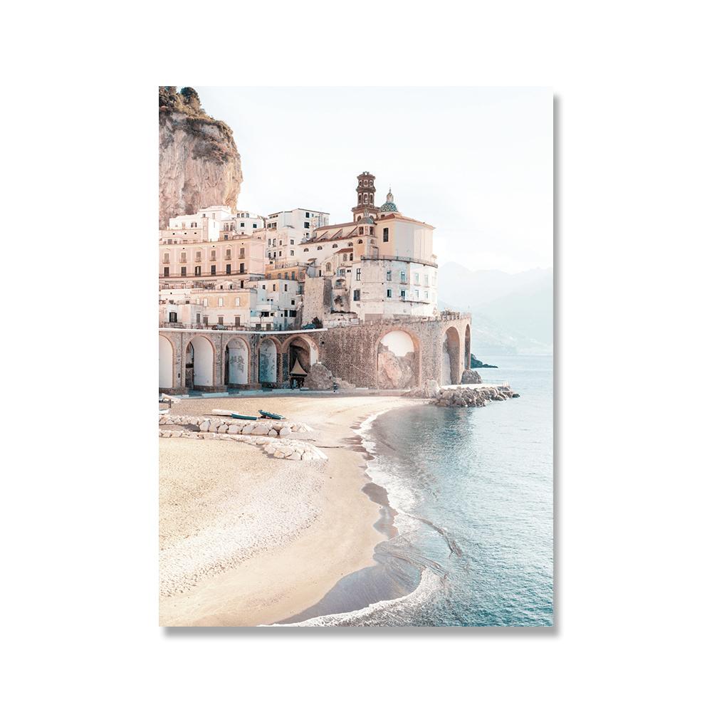 Italy-Amalfi-Coast-Flower-Poster-Nature-Landscape-Print-Sea-Beach-Dream-Quote-Canvas-Art-Painting-Seascape (2)