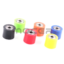 Freies verschiffen 8/10mm Spanner Rad Guide Stick Kette Roller Pulley Rad Slider Für Bike Motorrad