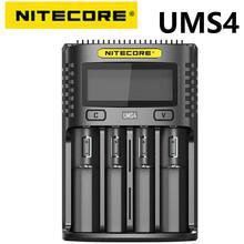 NITECORE cargador USB inteligente UMS4 de cuatro ranuras, carga rápida QC, 4A, gran corriente, Compatible con múltiples puertos