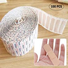 100 sztuk Band-Aids wodoodporna oddychająca poduszka Plaster rany hemostazy naklejki pasek bandaż pierwszej pomocy tanie tanio rePinklax CN (pochodzenie) Materiał kompozytowy YBZMP21152 bandage